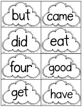 Primer Words Pack. Lists, Sight Words and Phrases