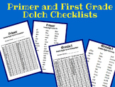 Primer and First Grade Dolch List Checklist