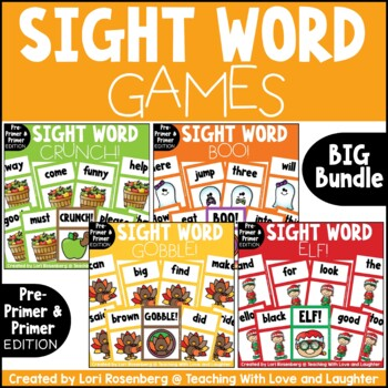 Primer and Pre-Primer Sight Word Game Bundle..Fall/Winter