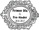 Primer dia de clases First day of school sign