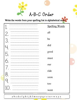 Primer jumbo dolch word lists  - 6 packets 10 words in each packet