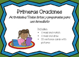 Primeras Oraciones set 1 FIrst I Can Read Sentences