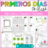 Primeros días de clase/ Spanish activities for the first days of school
