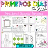 Primeros días de clase/ Spanish activities for the first d