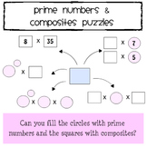 Prime Numbers & Composites Puzzles