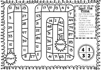 Primes, Multiples, Squares and Factors Games