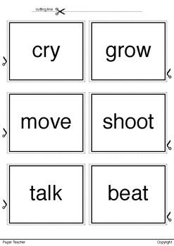 Printable 36 Verbs Set 1 Ready to Print and Cut