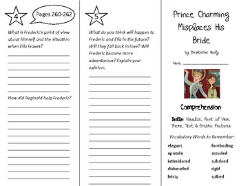 Prince Charming Misplaces His Bride Trifold - Into Reading 4th Gr Module 4 Wk 1