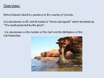 Prince Edward Island - Canada Power Point facts review history general info