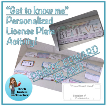 Prince Edward Island Get to Know Me License Plate Activity
