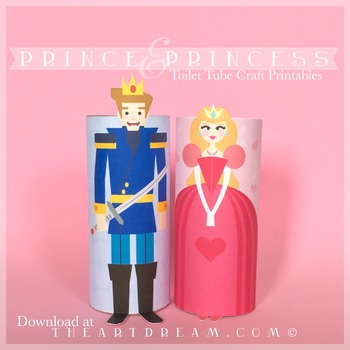 Prince & Princess Toilet Tube Craft Printables