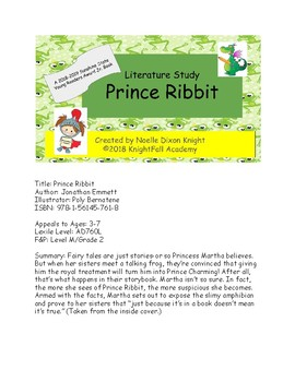 Prince Ribbit Literature Study