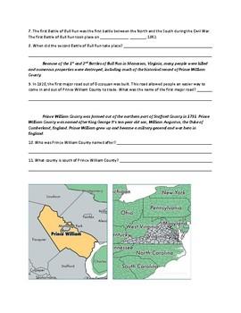 Prince William County History QR Code Webquest