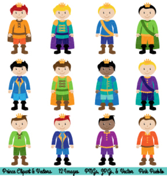 Prince and Fairytale Clipart and Vectors