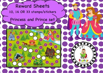 Prince and Princess Reward Sheet Package
