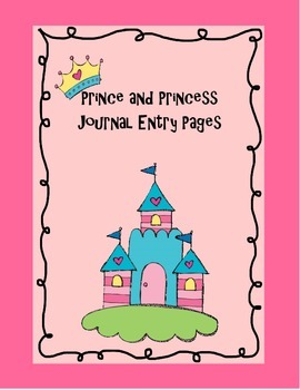 Prince and Princess Writing Journal Page