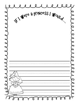 Prince and Princess Writing Journal Page