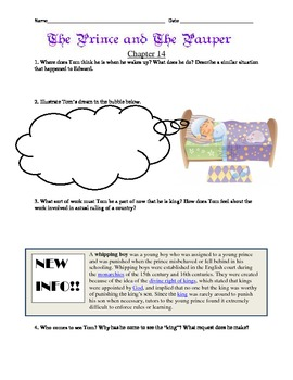 Prince and the Pauper Reading Guide Ch. 12-21
