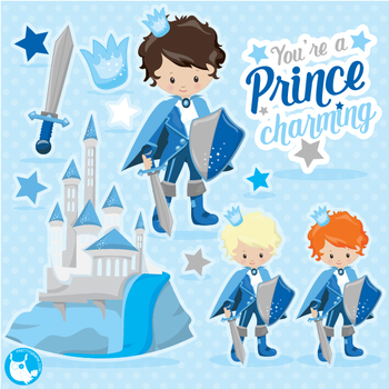 Prince clipart commercial use, vector graphics  - CL1067