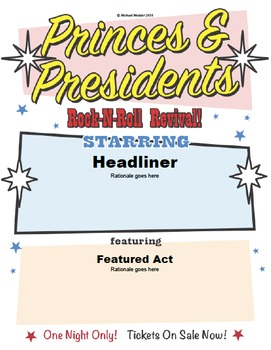 Princes & Presidents Poster Project: Hamlet vs. Jed Bartlet of The West Wing