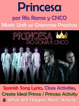 Princesa Spanish Song Lyrics and Activities - Rio Roma y CNCO - Musica