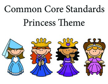 Princess 1st grade English Common core standards posters