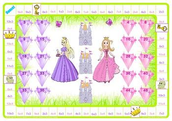 Princess 3 and 4 Times Table Game
