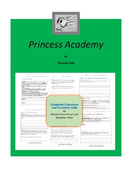 Princess Academy Complete Literature and Grammar Unit