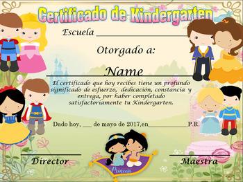 Princess Achievement Award Complete Editable!!! Spanish & English version