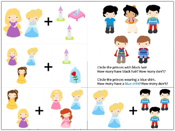 Princess Addition Cards Addition within 5 (with pictures)