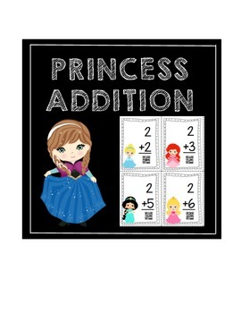 Princess Addition Flash Cards with QR Codes