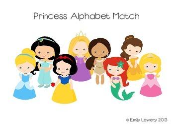 Princess Alphabet Match