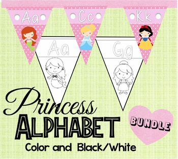 Princess Alphabet Pennant BUNDLE