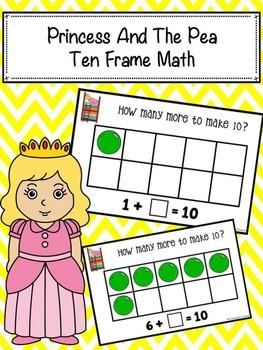 Princess And The Pea Ten Frame Math