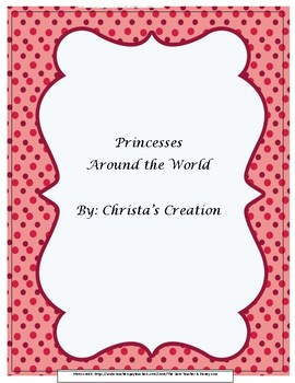 Princess Around the World Unit Study