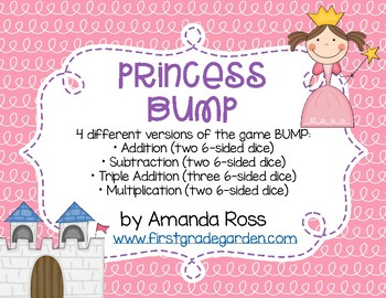 Princess BUMP Math Game {Addition, Subtraction, & Multiplication}