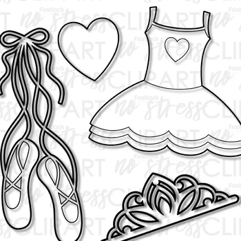 Princess Ballerina Clip Art (Digital Use Ok!)