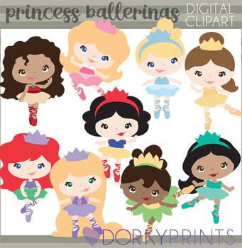 Princess Ballerina Clipart