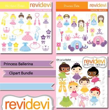 Princess Ballerina clip art bundle (3 packs)