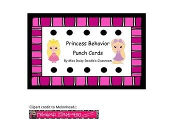 Princess Behavior Punch Cards