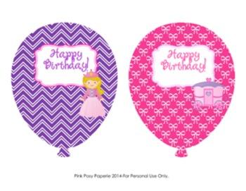 Princess Fairytale Birthday Balloons