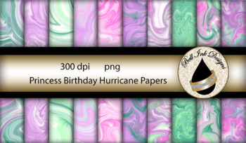 Princess Birthday Hurricane Papers Clipart