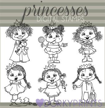 Princess Black Line Art