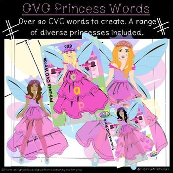 Princess CVC Segmenting and Blending Activity
