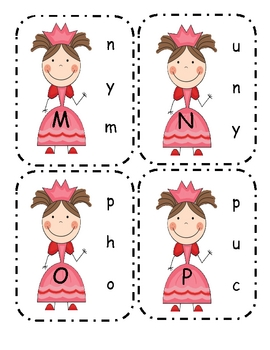 Princess Capital to Lower Alphabet Clip Cards