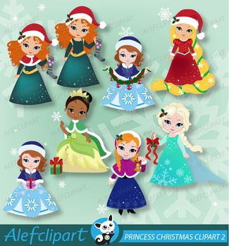 Princess Christmas Clipart 02