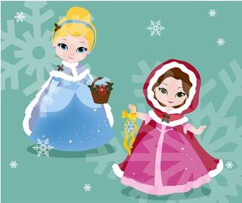 Princess Christmas Clipart