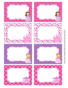 Princess Fairytale Classroom Decor Bin Tag Labels