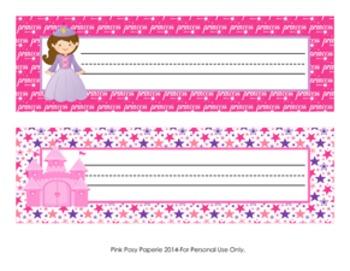Princess Fairytale Classroom Decor Desk Name Plates