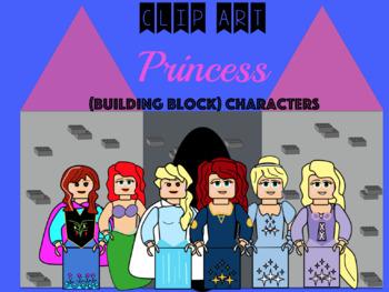 Princess Clip Art: Building Block Characters